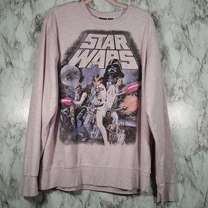 Star Wars Pink Distressed Graphic Sweatshirt T165